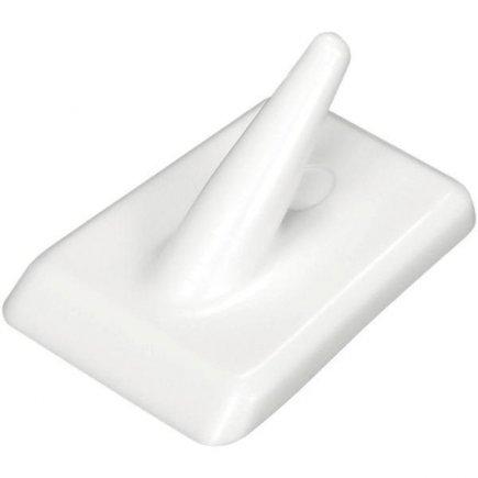 Háček samolepící plast Fackelmann Tecno, bílý