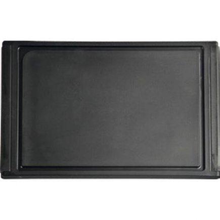 Prkénko na krájení 350 x 230 x 12 černé s drážkou, plastové, masivní, Gastro