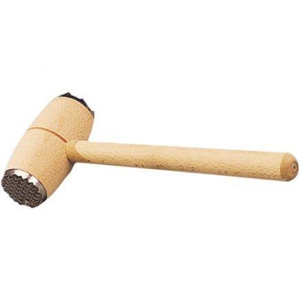 Palička na maso dřevěná s kovovými klepadly, 320 mm, Kesper