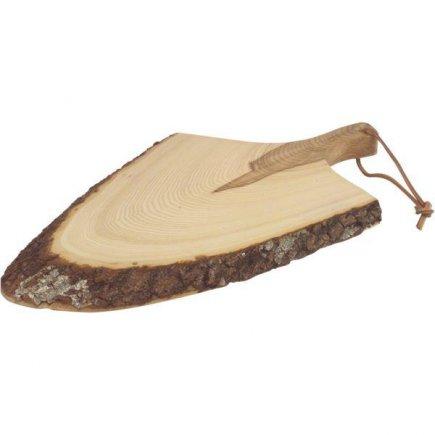 Servírovací prkénko s držadlem Gastro 42-55 cm, lakované dřevo