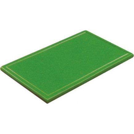 Prkénko krájecí plastové 25x16x1 cm, s drážkou, zelené