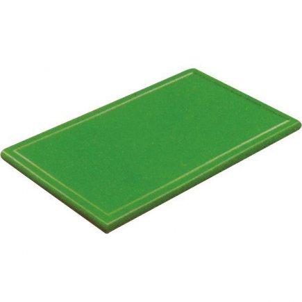 Prkénko krájecí plastové 60x40x3 cm, s drážkou, zelené
