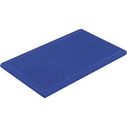 Prkénko krájecí plastové 60x40x3 cm, s drážkou, modré