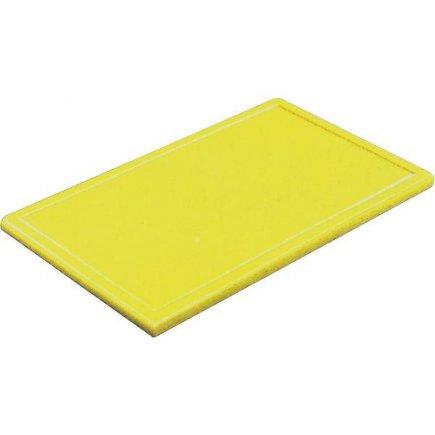 Prkénko krájecí plastové 53x32,5x2 cm GN 1/1, bez drážky, žluté