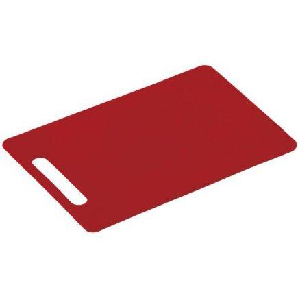 Prkénko krájecí, 340/240/6, kvalitní PVC, vhodné i do myčky, červená, Kesper