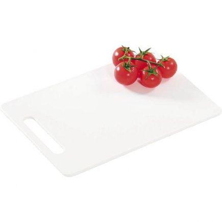 Prkénko krájecí, 340/240/6, kvalitní PVC, vhodné i do myčky, bílá, Kesper