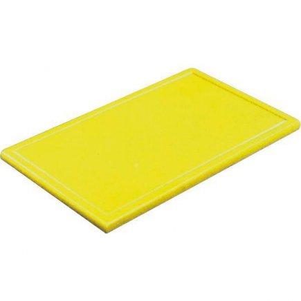 Prkénko krájecí plastové 53x32,5x2 cm GN 1/1, s drážkou, žluté