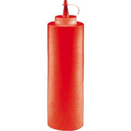 Dávkovací mačkací láhev Paderno 360 ml, červená