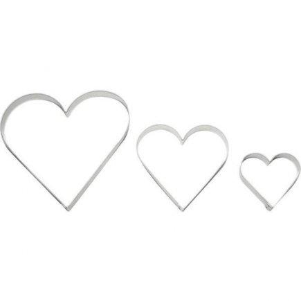 Vykrajovátko srdce 3 ks