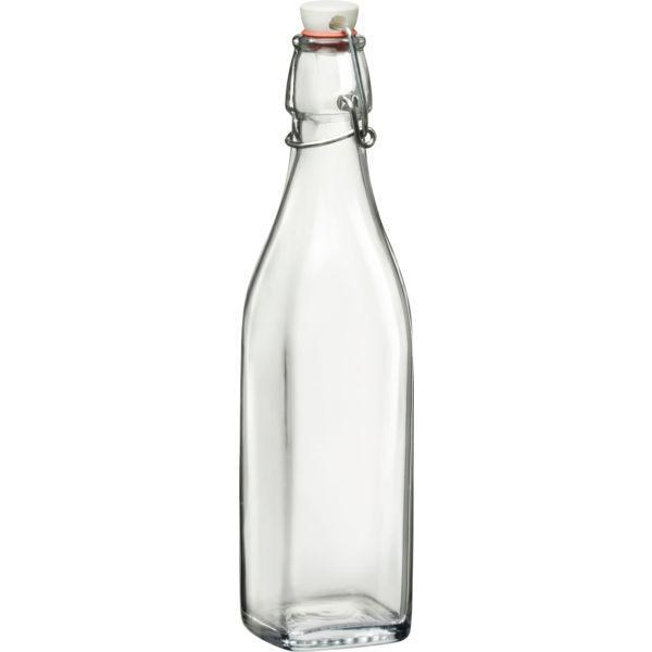 Láhev láhve 500 ml na alkohol olej zálivky sirup hranatá 4 strany Swing Bormioli Rocco