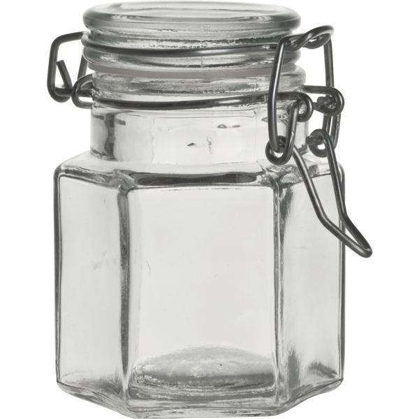 Sklenice s obloučkovým uzávěrem, 75 ml, 6-hranná