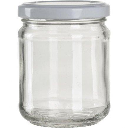 Zavařovací sklenice pro marmelády, 212 ml, 6 ks, bílé víčko, Gastro
