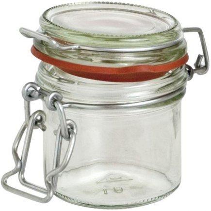 Zavařovací sklenice obloučkový uzávěr, 125 ml, červená gumička Gastro