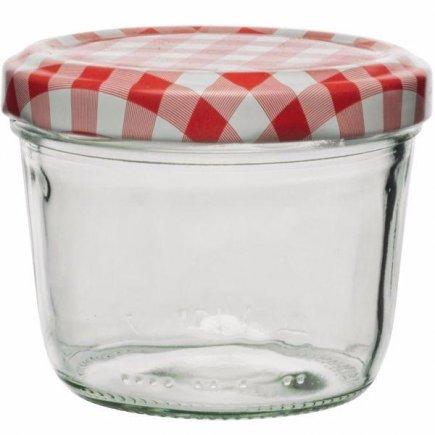Zavařovací sklenice, 230 ml víčko káry, pro marmelády, nízká Gastro