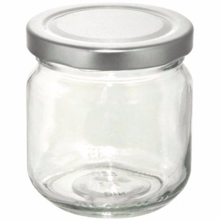 Zavařovací sklenice 212 ml stříbrné víčko Gastro