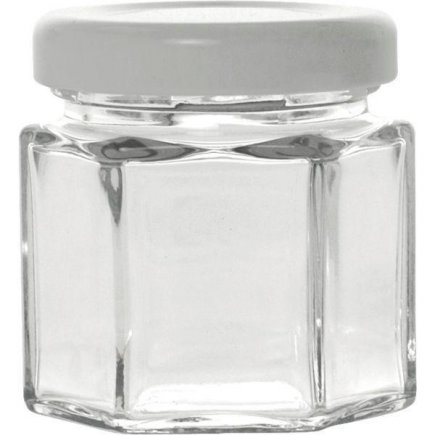Zavařovací sklenice hranatá 47 ml, pro marmelády, bílé víčko Gastro