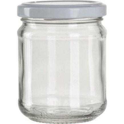 Zavařovací sklenice pro marmelády, 212 ml bílé víčko Gastro