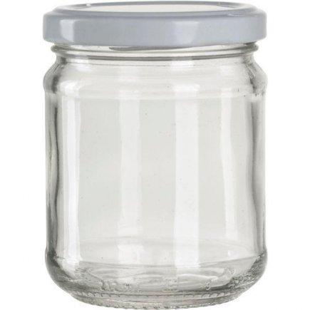 Zavařovací sklenice pro marmelády 390 ml bílé víčko Gastro