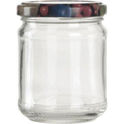Zavařovací sklenice pro marmelády, 212 ml, kulatá, víčko ovoce Gastro