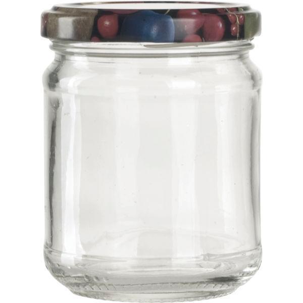 Zavařovací sklenice pro marmelády, 212 ml, kulatá, víčko s dekorem