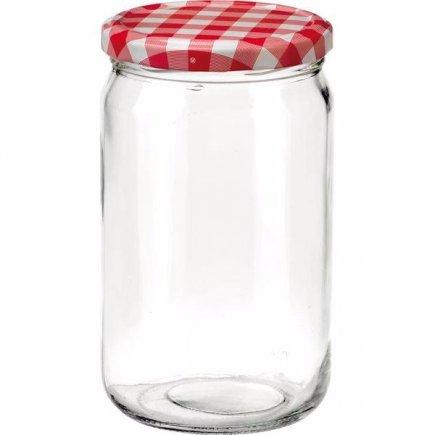 Zavařovací sklenice , 720 ml, víčko káry, pro marmelády Gastro