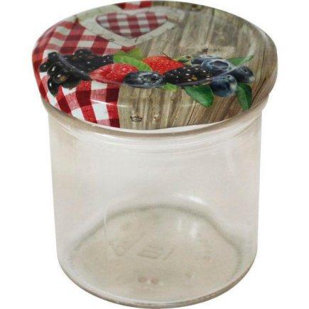 Zavařovací sklenice 167 ml, víčko dekor venkov Gastro