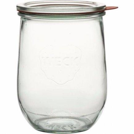 Zavařovací sklenice 1000 ml, 4 ks víčko těsnění svorky tvar tulipán Weck