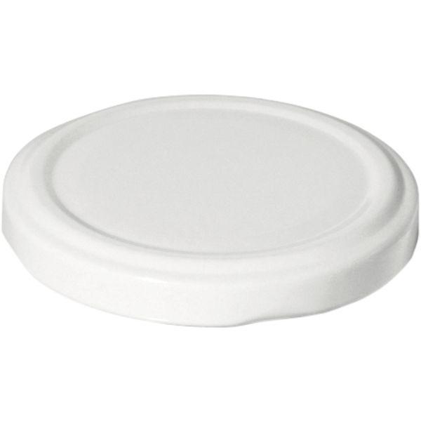 Šroubovací víčka, set 10ks, bílé, průměr 43 mm