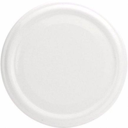Šroubovací víčka, set 10ks, bílé, průměr 48 mm Gastro