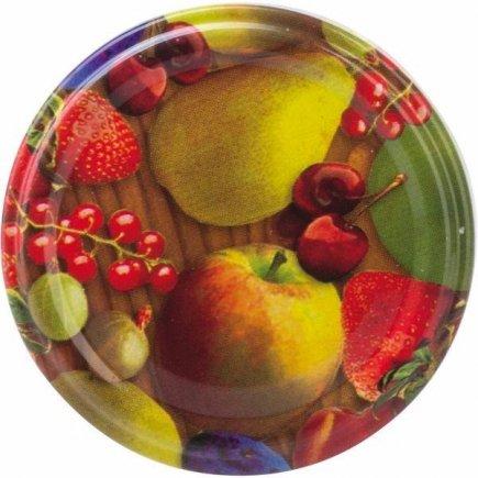 Šroubovací víčka, set 10ks, dekor ovoce, průměr 82 mm Gastro
