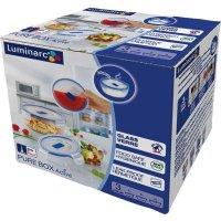 Sada skleněných nádob na potraviny Luminarc Pure Box 3 ks, kulatá