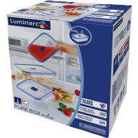 Sada skleněných nádob na potraviny Luminarc Pure Box 3 ks, obdelníková