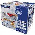 Sada skleněných nádob na potraviny Luminarc Pure Box 3 ks, čtvercová