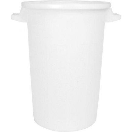 Sud na potraviny plast 100 l, bílý, s víkem