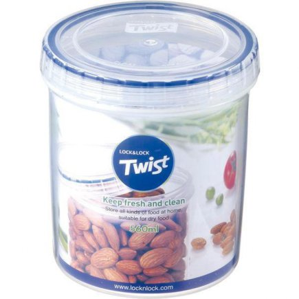 Dóza na potraviny Lock & Lock Twist 560 ml, kulatá
