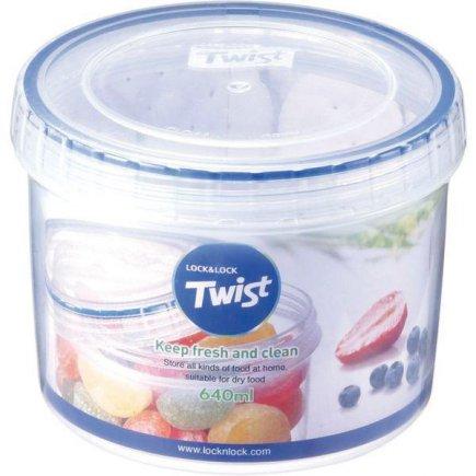 Dóza na potraviny Lock & Lock Twist 640 ml, kulatá