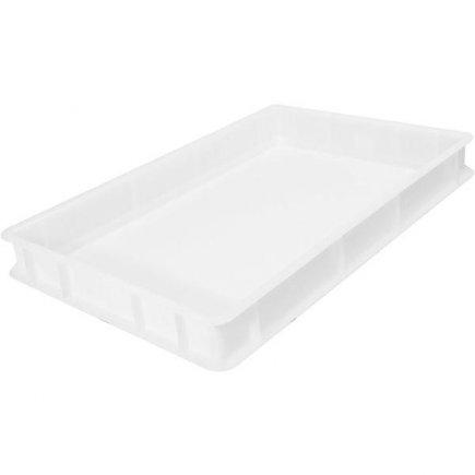 Přepravka plast 13 l 60x40x7 cm, bílá