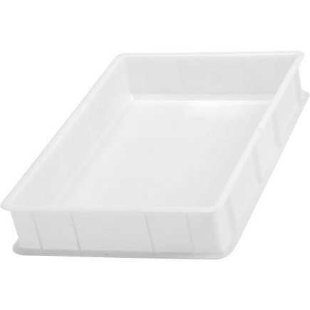 Přepravka plast 20 l 60x40x10 cm, bílá