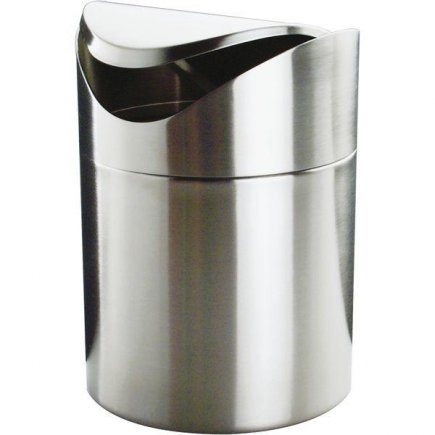 Odpadkový koš na stůl kyvné víko nerez na odpadky APS