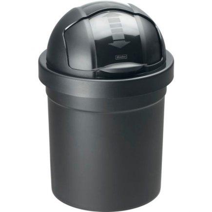 Odpadkový koš rolovací víko Rotho Roll Bob 30 l, černý