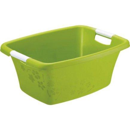 Koš na prádlo Rotho 25 l, zelený
