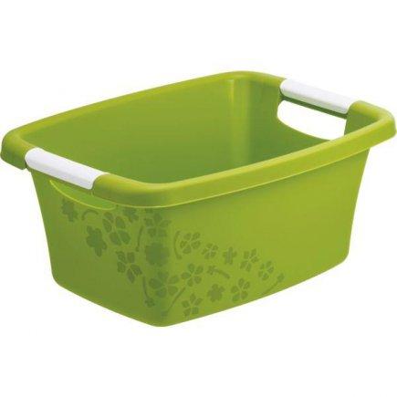 Koš na prádlo Rotho 12 l, zelený