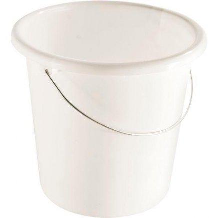 Kbelík plastový 10 l Gastro, bílá