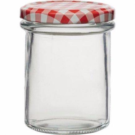 Zavařovací sklenice 230 ml , sada 6 ks, víčko káry, vysoká, Gastro