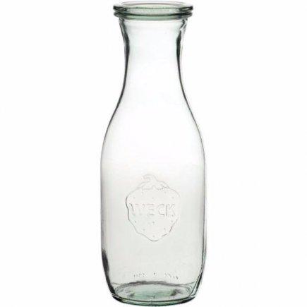 Zavařovací sklenice na džus mošt 1000 ml, 4 ks, těsnění svorky víčko Weck