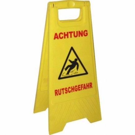 Výstražná tabule -  Pozor kluzká podlaha, žlutá