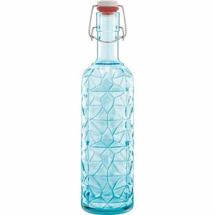 Láhev s patentovým uzávěrem Luigi Bormioli Prezioso 1000 ml, modrá