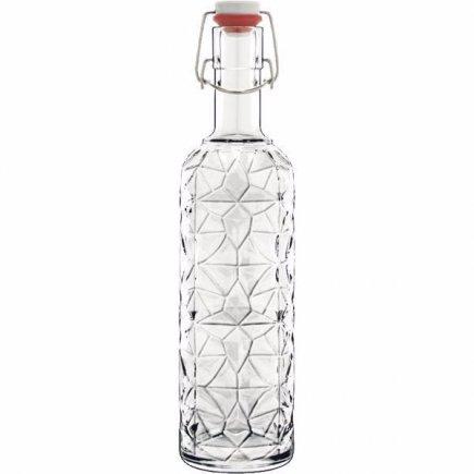 Láhev s patentovým uzávěrem Luigi Bormioli Prezioso 1000 ml, čirá