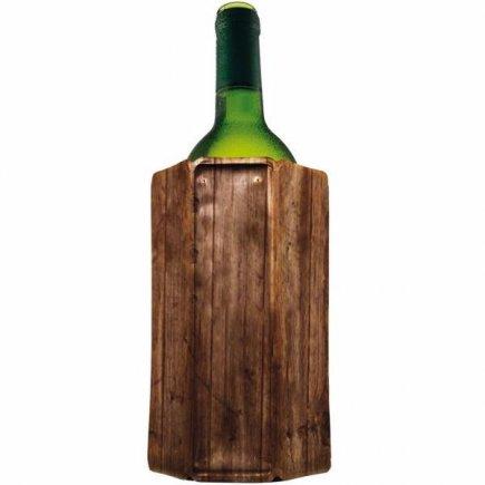 Chladič na víno Vacu Vin Aktiv, dřevěný vzhled