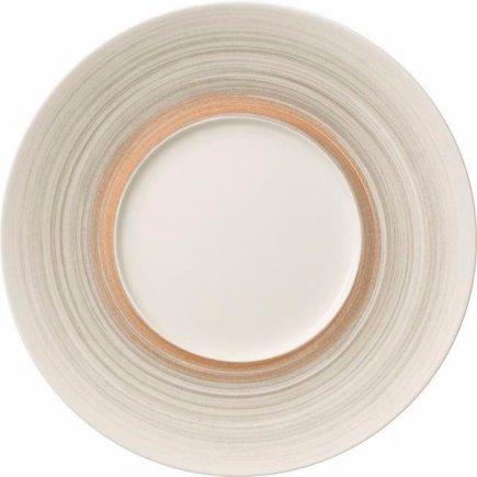 Mělký talíř s širokým okrajem Villeroy & Boch Amarah 29 cm, tmavošedý
